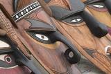 Papua New Guinea, Murik Lakes, Karau Village. Traditional Carved Masks Photo by Cindy Miller Hopkins