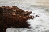 Maine, Acadia NP, Ocean Waves Breaking on Rocks Along Ocean Drive Photographie par Joanne Wells