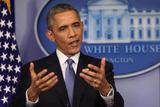 President Barack Obama at a News Conference, Brady Press Briefing Room Photo by Dennis Brack