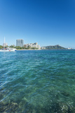 USA, Hawaii, Oahu, Honolulu, Waikiki and Diamond Head Foto av Rob Tilley