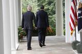 President Barack Obama with Vice President Joseph Biden, Washington DC Photo by Dennis Brack
