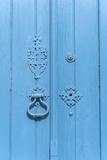Europe, Portugal, Obidos, Painted Blue Door Foto van Lisa S. Engelbrecht