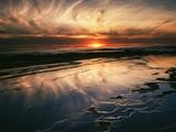 California, San Diego, Sunset Cliffs, Sunset Reflecting in Tide Pools Foto von Christopher Talbot Frank