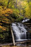 USA, Pennsylvania, Benton. Waterfall in Ricketts Glen State Park Foto von Jay O'brien
