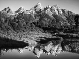 USA, Wyoming, Grand Teton National Park. Mountain Sunrise Foto av Dennis Flaherty