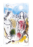 Le Couple au Crepuscule Samlertryk af Marc Chagall