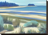 Northern Shore Stretched Canvas Print by Cathe Hendrick