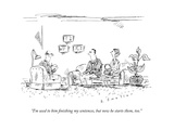 A couple speaks to a therapist.  - New Yorker Cartoon Premium Giclee Print by Barbara Smaller