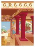 Greece - Crete - Palace of Cnossos (Knossos) Plakater af Helen Perakis-Theocharis