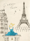Sketchbook Paris II Prints by Lottie Fontaine