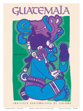 Guatemala - Itzamna, Dios de Los Cielos (God of the Heavens) - Mayan God Poster von  Pacifica Island Art