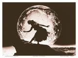 Full Moon Hula Dancer Posters af Alan Houghton
