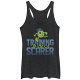 Juniors Tank Top: Monsters University- Scarer In Training Ermeløse toppen for damer