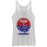 Juniors Tank Top: Pizza For Prez Womens Tank Tops