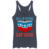 Juniors Tank Top: All In Favor Say Beer Womens Tank Tops