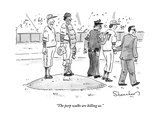 """""""The perp walks are killing us."""" - New Yorker Cartoon Premium Giclee Print by Danny Shanahan"""