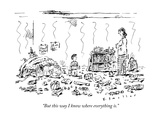 """But this way I know where everything is."" - New Yorker Cartoon Premium Giclee Print by Barbara Smaller"
