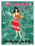 Hawaii by Clipper - Pan American Airlines - Hawaiian Hula Dancer Kunst av Al Moore