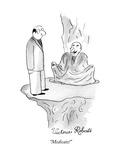 """""""Medicate!"""" - New Yorker Cartoon Premium Giclee-trykk av Victoria Roberts"""