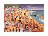 Vanity Fair - 1995 - Malibu Beach Premium Giclee Print by Robert Risko