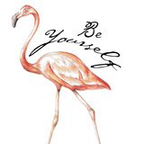Be Different Flamingo II Poster von Tiffany Hakimipour