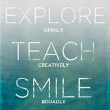 Explore, Teach, Smile (teal) Láminas por Sd Graphics Studio