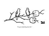 """I've got a bad feeling about this."" - New Yorker Cartoon Premium Giclee-trykk av Drew Dernavich"