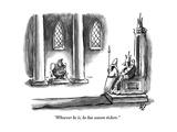 """""""Whoever he is, he has season tickets."""" - New Yorker Cartoon Impressão giclée premium por Frank Cotham"""