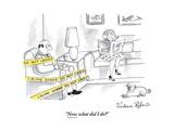 """Now what did I do"" - New Yorker Cartoon Premium Giclee-trykk av Victoria Roberts"