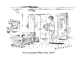 """Go out and play What is this, 1962"" - New Yorker Cartoon Premium Giclee Print by Barbara Smaller"