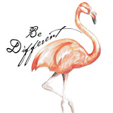 Be Different Flamingo I Prints by Tiffany Hakimipour