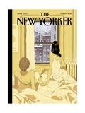 Perfect Storm - The New Yorker Cover, February 10, 2014 Premium Giclee Print by Tomer Hanuka