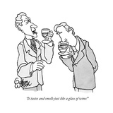 """It tastes and smells just like a glass of wine!"" - New Yorker Cartoon Reproduction giclée Premium par Gahan Wilson"