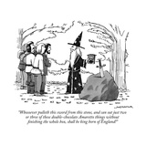 """Whosoever pulleth this sword from this stone, and can eat just two or thr"" - New Yorker Cartoon Reproduction giclée Premium par Joe Dator"