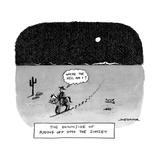 """Where the hell am I"" - New Yorker Cartoon Reproduction giclée Premium par Joe Dator"