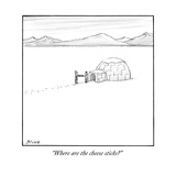 """Where are the cheese sticks"" - New Yorker Cartoon Reproduction giclée Premium par Harry Bliss"