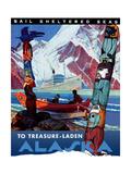 Treasure- Laden Alaska ジクレープリント