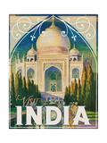 Visit India Impressão giclée
