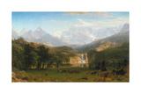 Rocky Mountains, Lander's Peak, 1863 Reproduction procédé giclée par Albert Bierstadt