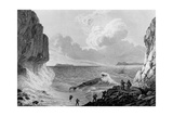 Franklin's expedition landing in a storm,1821 Giclee Print by George Back