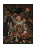 Shrovetide Revellers (The Merry Company) c.1615 Giclee Print by Frans Hals