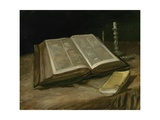 Still Life with Bible, 1885 Giclée-tryk af Vincent van Gogh