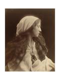 Study of a Young Girl Dressed as a Peasant, c.1869 Lámina giclée por Julia Margaret Cameron