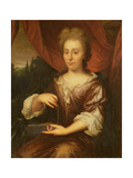 Portrait of a Lady Holding a Chain Giclee Print by Caspar Netscher