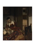 Girl asleep at a table, 1656-57 Giclée-Druck von Johannes Vermeer
