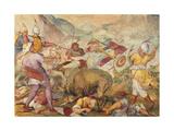 Battle Between the Venetians and the Turks Giclée-Druck von Antonio Vassilacchi