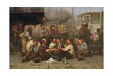 The Longshoremen's Noon, 1879 Gicléedruk van John George Brown