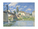 The Bridge at Villeneuve-la-Garenne, 1872 Giclee Print by Alfred Sisley