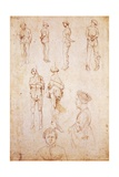 Hanged Men and Two Portraits, Study for Saint George and the Princess, C.1430 Giclée-tryk af Antonio Pisanello