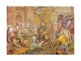 Conquest of a Turkish Town by the Venetians Giclée-Druck von Antonio Vassilacchi